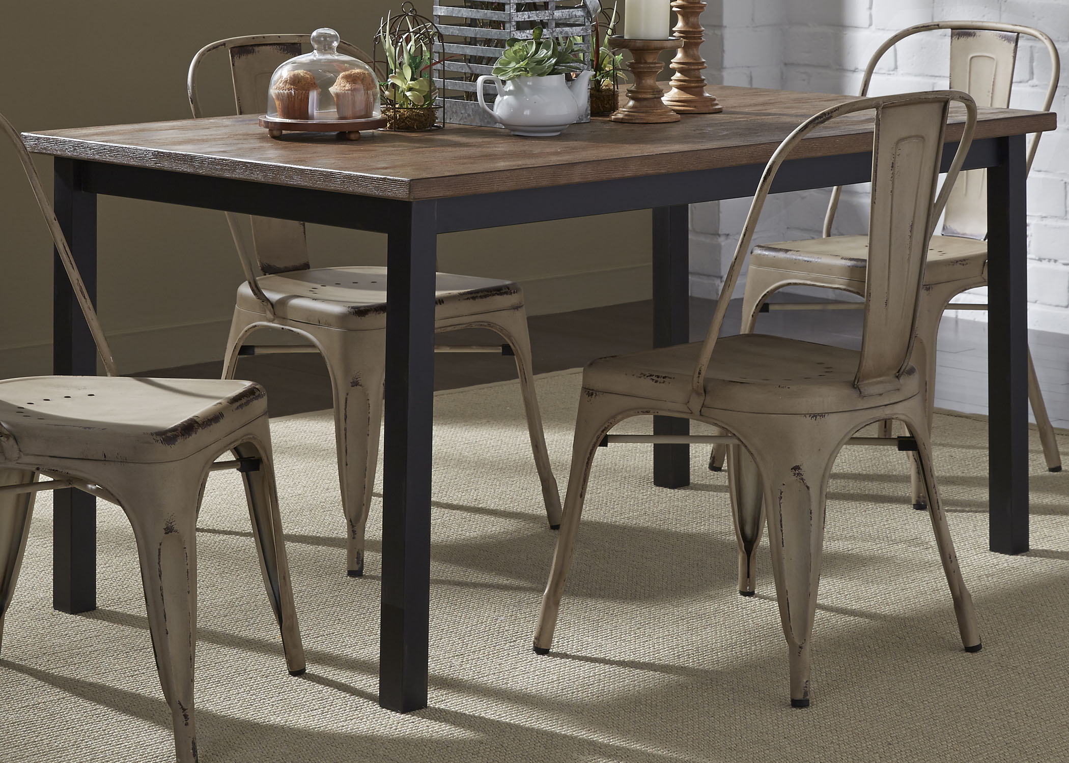 Vintage Dining Series Rectangular Leg Table by Libby at Walker's Furniture