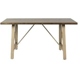 Rectangular Leg Table with X Base End Panels