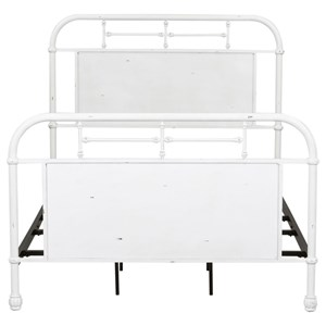 Twin Metal Headboard with Turned Spindles
