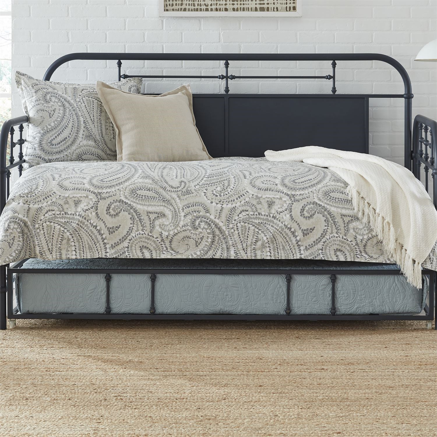 Vintage Series Twin Metal Daybed with Trundle by Libby at Walker's Furniture
