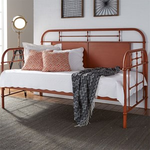 Twin Metal Daybed with Turned Spindles