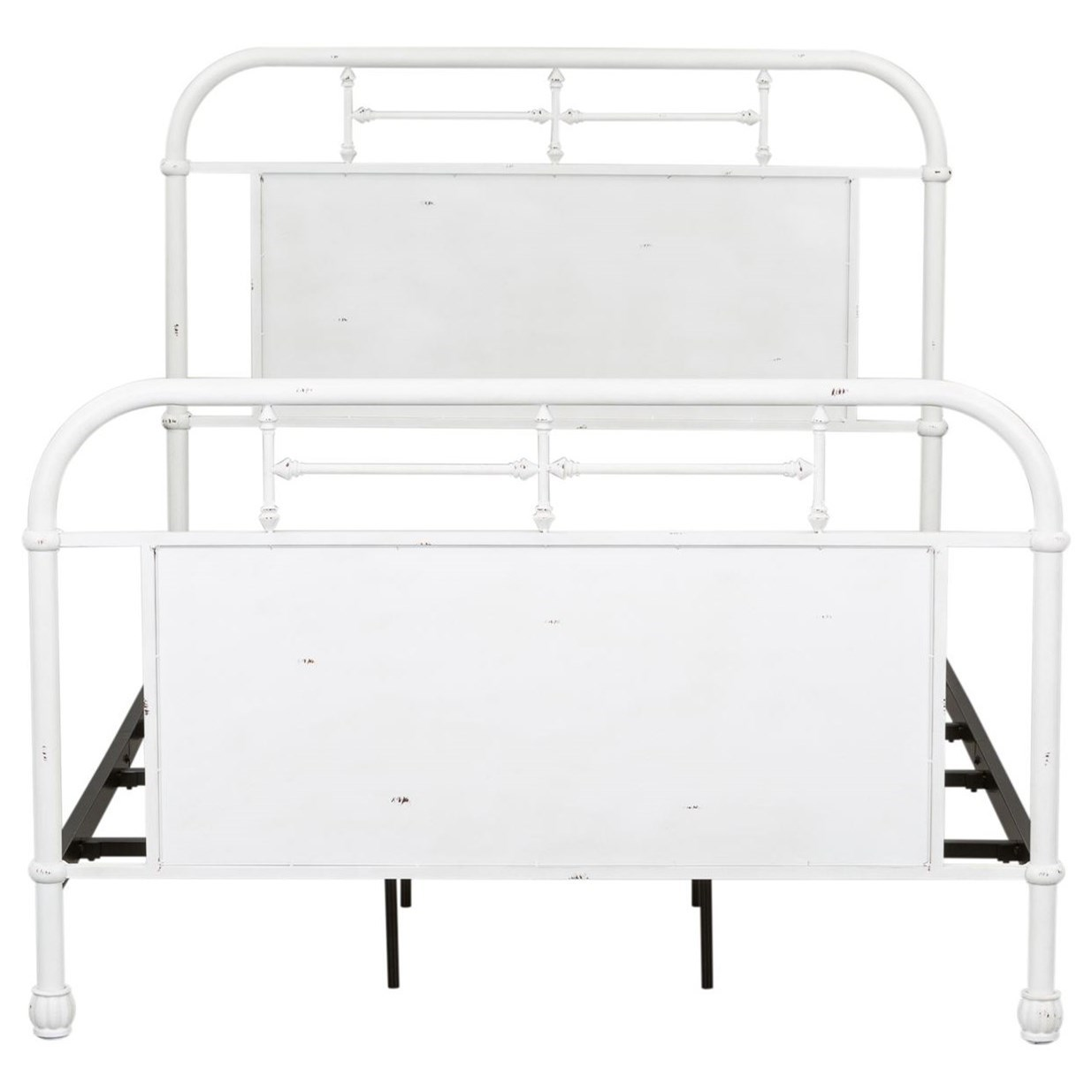 Vintage Series Queen Metal Bed by Libby at Walker's Furniture