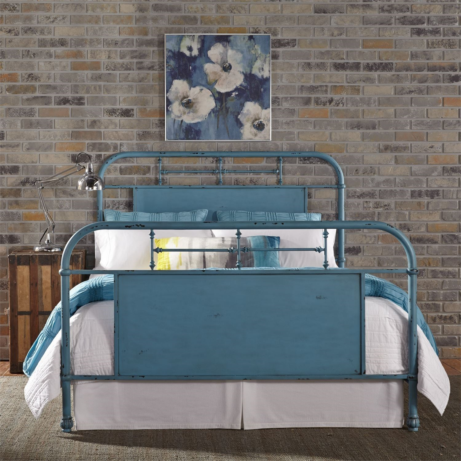 Vintage Series Full Metal Bed by Libby at Walker's Furniture