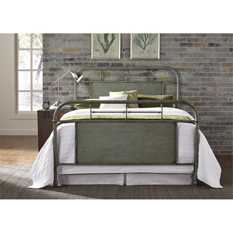 Vintage Series Full Metal Bed by Libby at Walker's Furniture