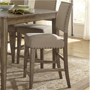 Rustic Casual Upholstered Counter Chair