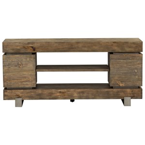 """Contemporary 60"""" TV Console with Metal Legs"""