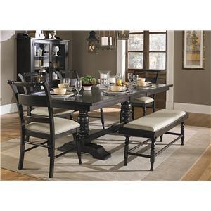 Liberty Furniture Whitney 6 Piece Trestle Table Set
