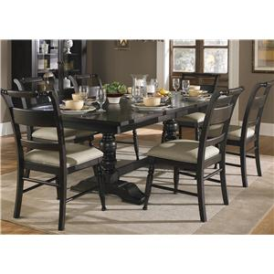 Liberty Furniture Whitney 7 Piece Trestle Table Set