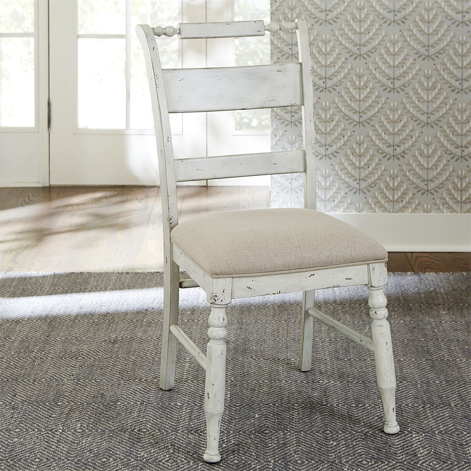 Whitney Slat Back Side Chair by Libby at Walker's Furniture