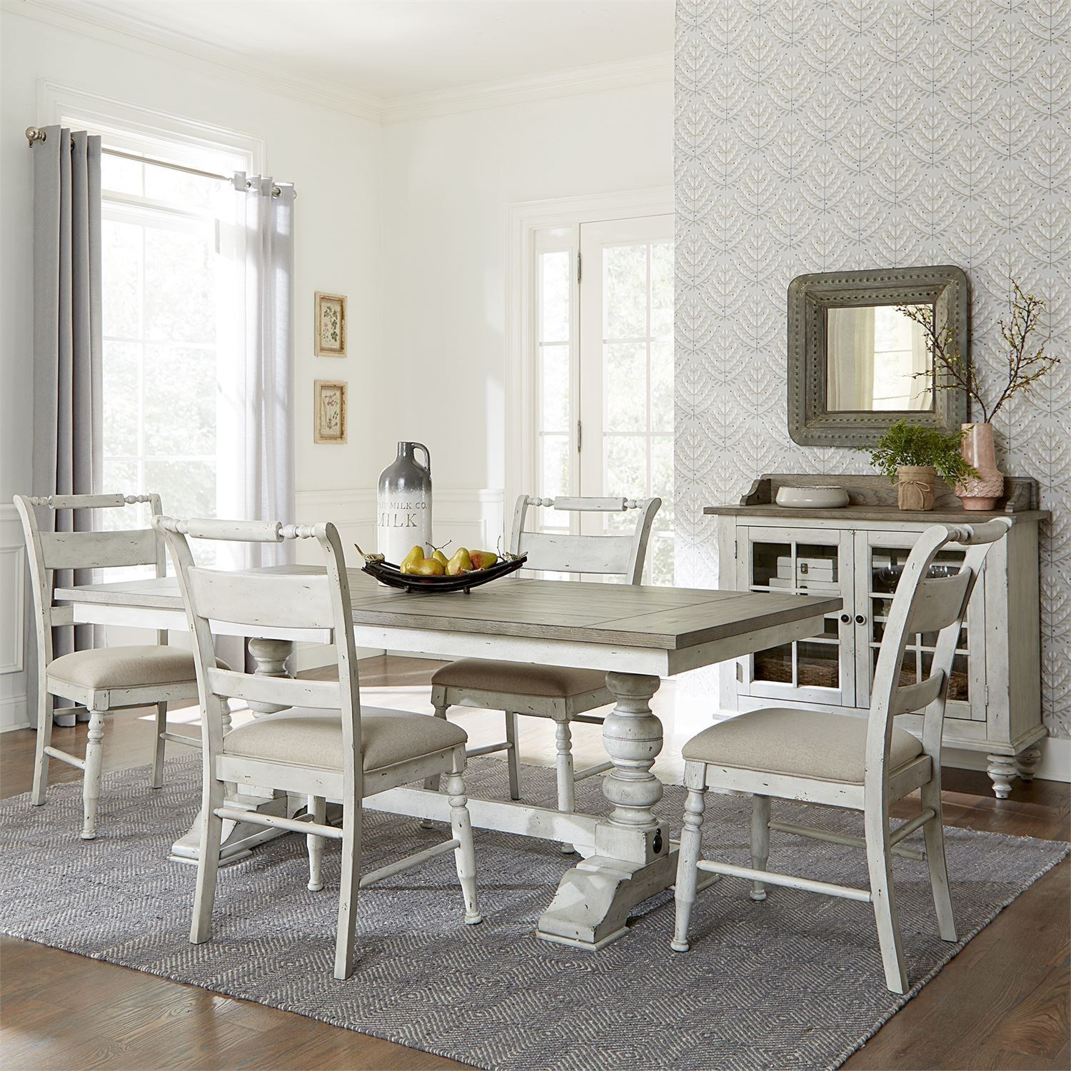 Whitney 5 Piece Trestle Table Set  by Liberty Furniture at Wayside Furniture