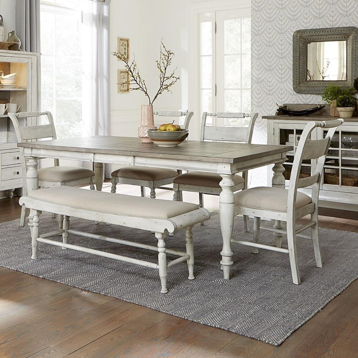 Whitney 6 Piece Rectangular Table Set by Libby at Walker's Furniture