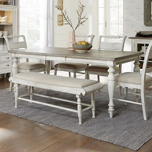 Rectangular Table with Turned Legs