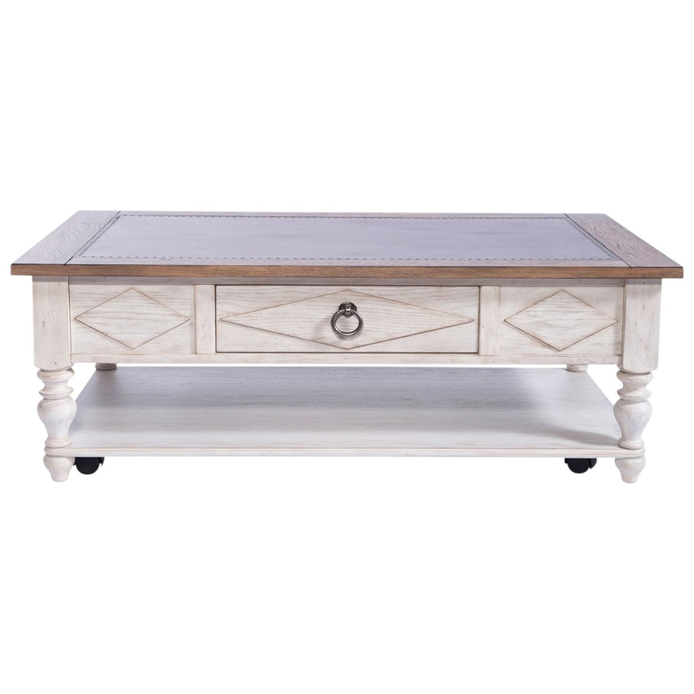 Willow Cottage Rectangular Cocktail Table by Libby at Walker's Furniture