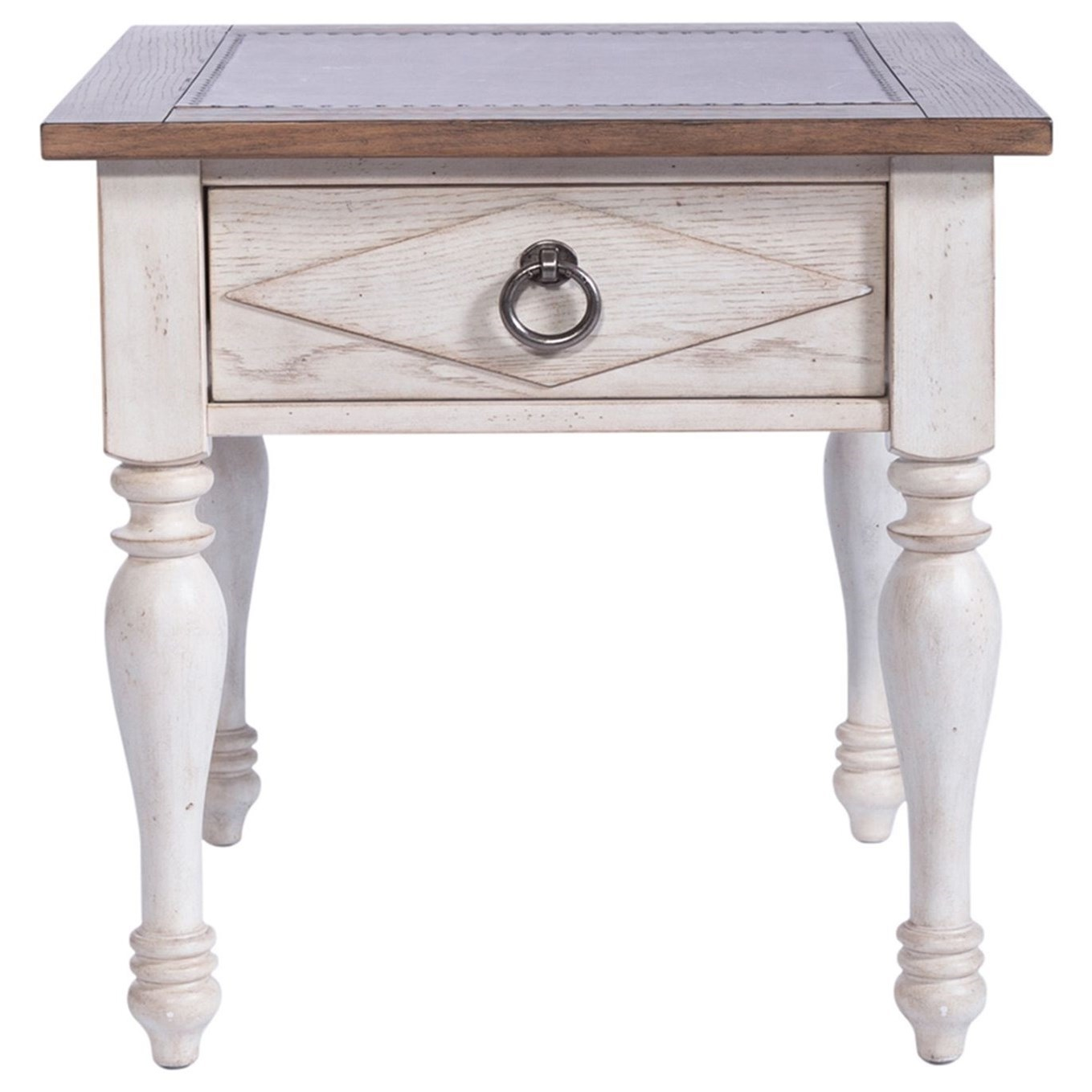 Willow Cottage 1-Drawer End Table by Libby at Walker's Furniture