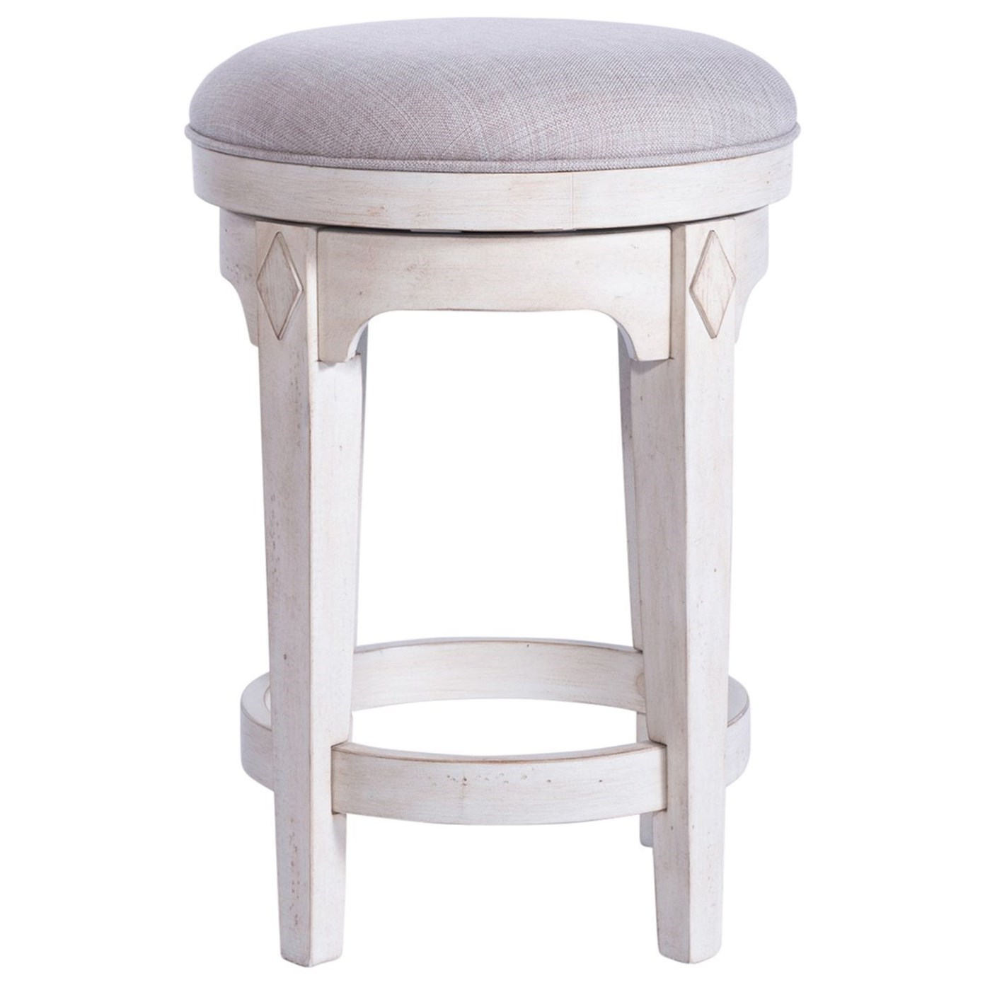Willow Cottage Console Swivel Stool by Freedom Furniture at Ruby Gordon Home