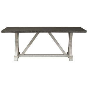 Relaxed Vintage Trestle Table with X Base