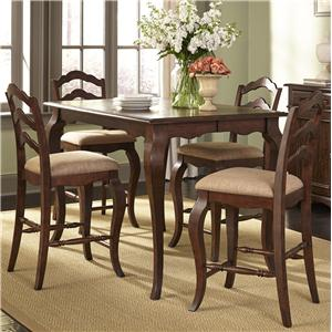Transitional Gathering Height Table and Chair Set