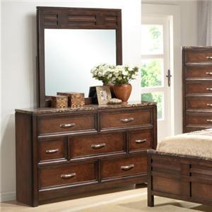 Lifestyle 1187 Bedroom Dresser & Mirror Set