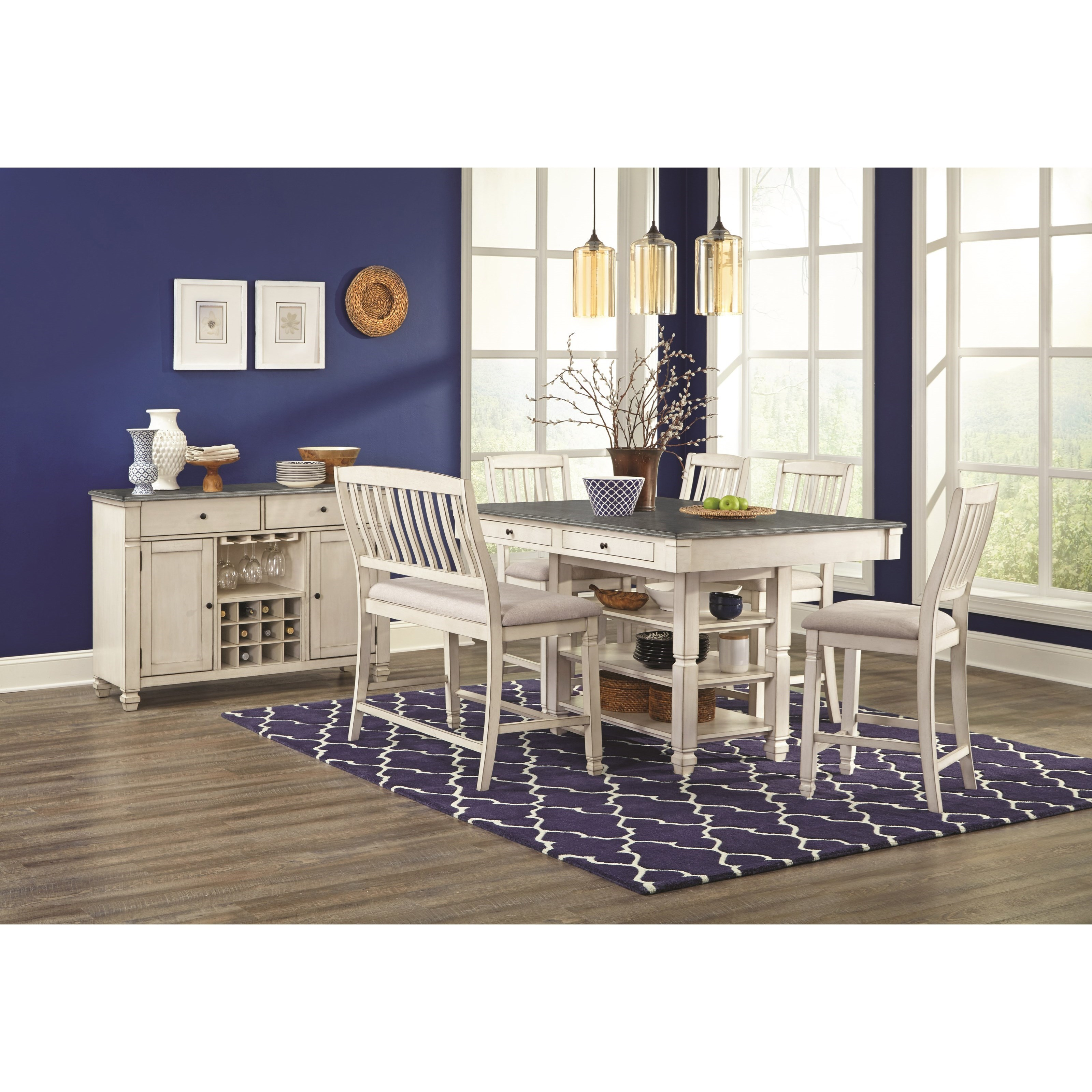 1735P Dining Room Group by Lifestyle at Sam Levitz Outlet