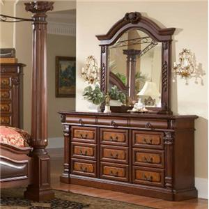 Lifestyle 3218A 12 Drawer Dresser & Mirror Combo