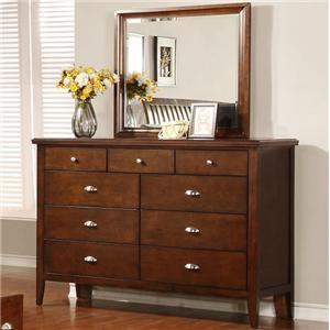 Lifestyle 4130A Dresser and Mirror Set