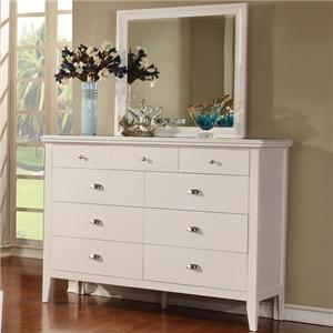 Lifestyle 4135A Dresser and Mirror Set