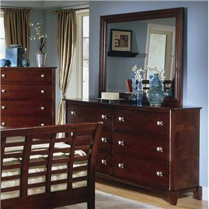 Lifestyle 4141 Dresser and Mirror Combo
