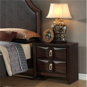 Transitional Nightstand with Two Drawers