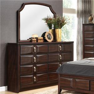 Lifestyle 4157A Dresser and Mirror Set