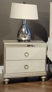 4188Y SILVER TWO DRAWER NIGHSTAND by Lifestyle at Furniture Fair - North Carolina