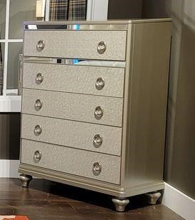 4188Y SILVER 5 DRAWER CHEST by Lifestyle at Furniture Fair - North Carolina