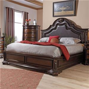 Lifestyle 4258A King Upholstered Bed