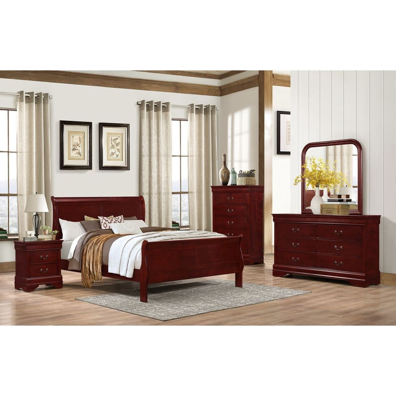 4937 Queen Bedroom Group by Lifestyle at Beck's Furniture