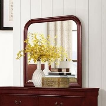 4937 Mirror with Wood Frame by Lifestyle at Beck's Furniture