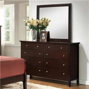Lifestyle 5125 Dresser and Mirror