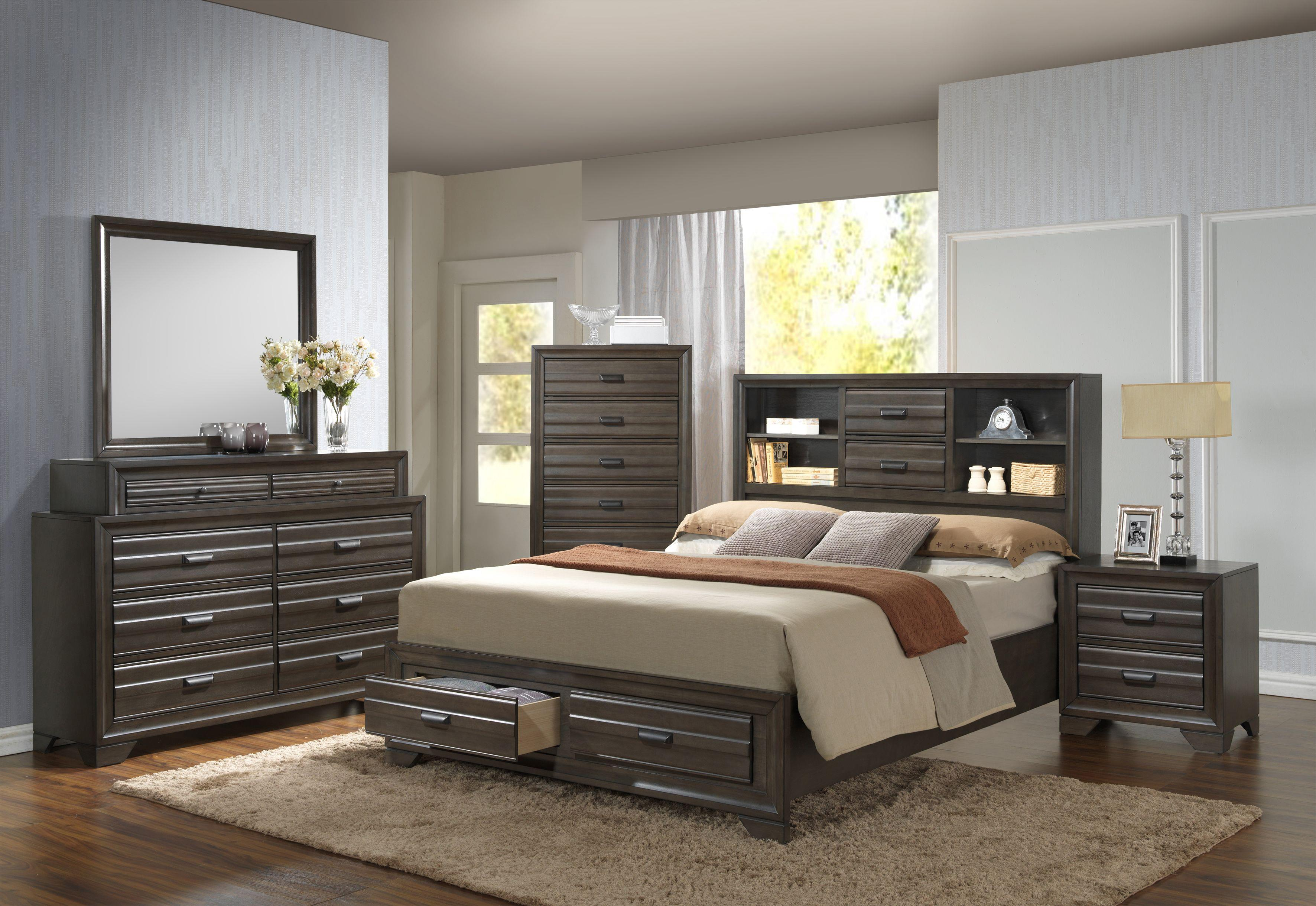 5236A Queen Storage Bed by Lifestyle at Beck's Furniture