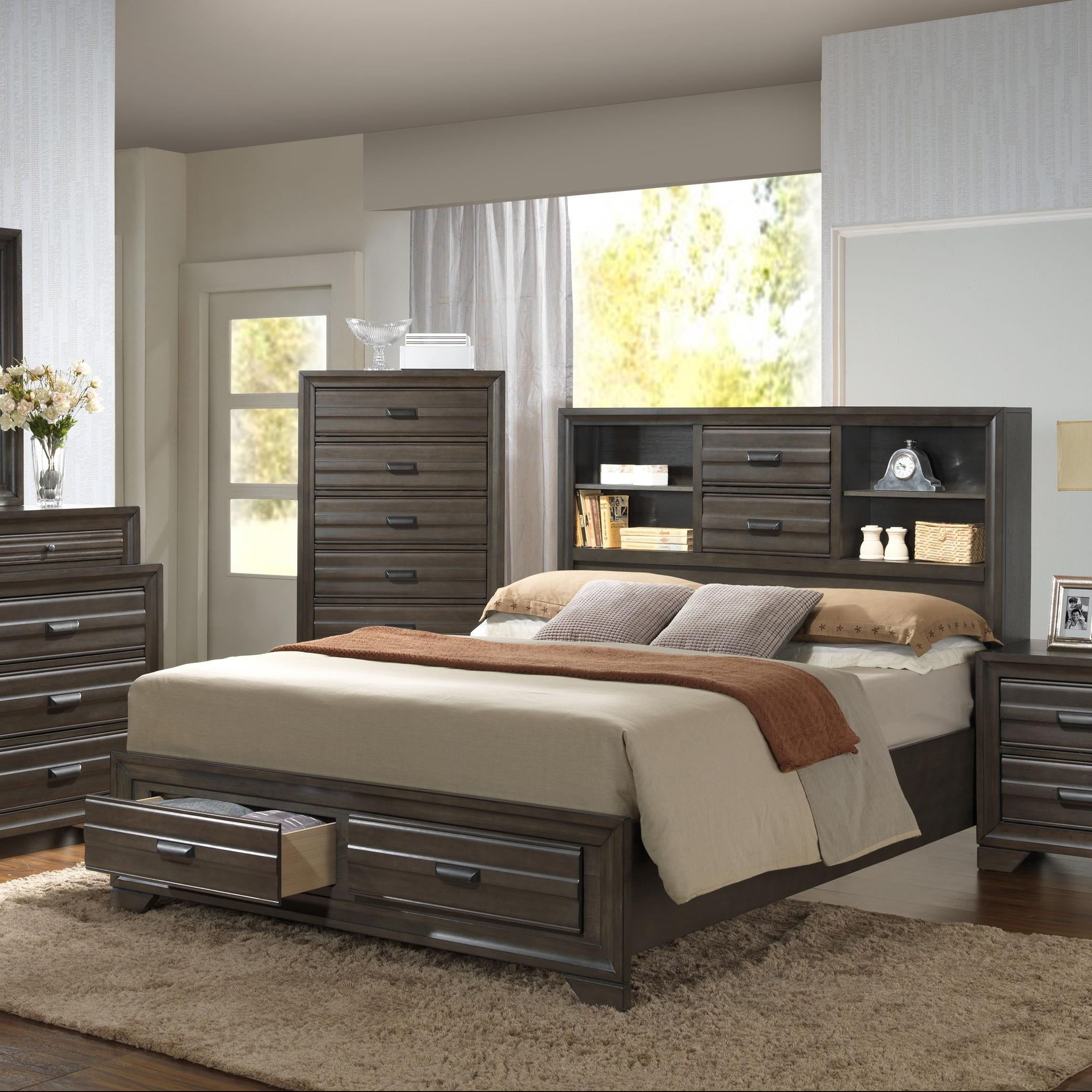 5236A King Storage Bed by Lifestyle at Beck's Furniture