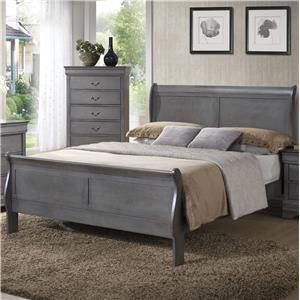 Twin Sleigh Panel Bed