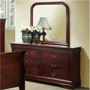 Drawer Dresser w/ Landscape Mirror