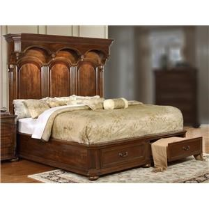 Queen Storage Bed with Headboard Lighting