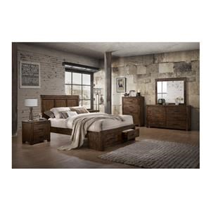 6 Piece Solid Wood King Storage Bedroom Group
