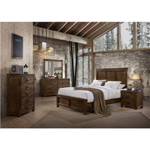 6 Piece Solid Wood Queen Bedroom Group