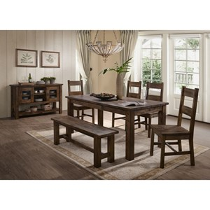 Casual Dining Room Group with Bench