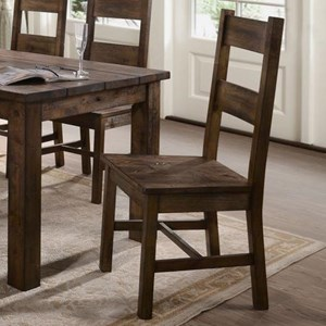 Rustic Dining Side Chair with Ladderback