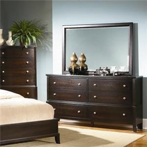 Lifestyle 7185A Dresser & Mirror Combo