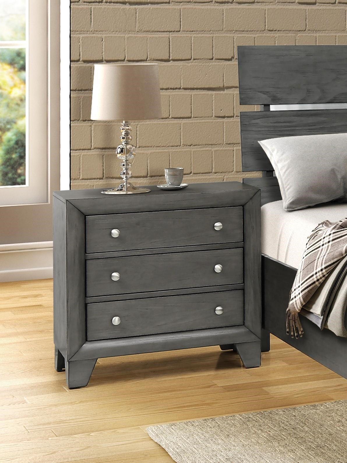 8130G Three Drawer Nighstand by Lifestyle at Furniture Fair - North Carolina
