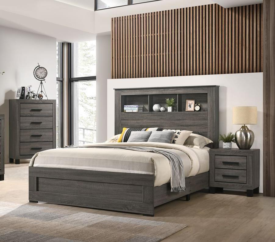 5 Piece Queen Bookcase Bedroom Group