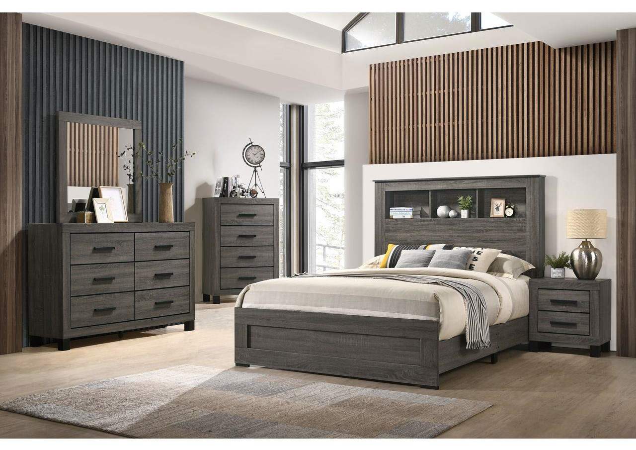 8321 6 Piece Queen Bookcase Bedroom Group by Lifestyle at Sam Levitz Outlet