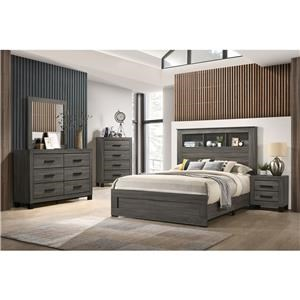 6 Piece Full Bookcase Bedroom Group