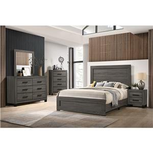 6 Piece Queen Panel Bedroom Group